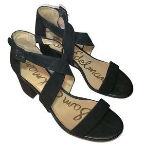Sam Edelman Suede Leather Strappy Block Heels
